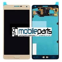 Оригинальный Дисплей (Модуль) + Сенсор (Тачскрин) для Samsung SM-A700H Galaxy A7 service (Золотой)