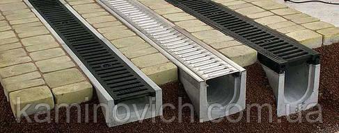 Водостік пластиковий з оцинкованої ґратами, фото 2
