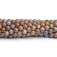 Марокканский Агат (высшее качество), Натуральный камень, На нитях, бусины 8 мм, Шар, количество: 47-48 шт/нить