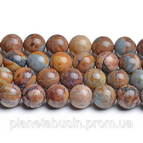 8 мм Марокканский Агат АА, CN282, Натуральный камень, Форма: Шар, Отверстие: 1мм, кол-во: 47-48 шт/нить, фото 2