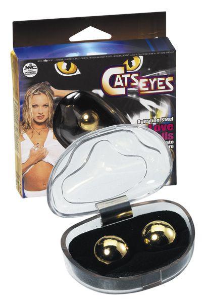 Вагинальные шарики Cats Eyes Steel love balls gold