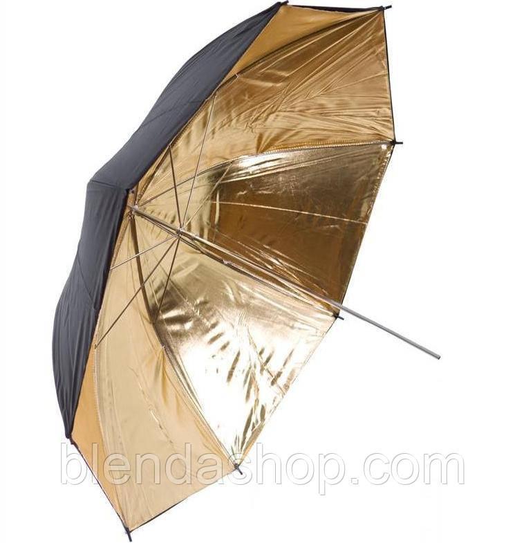 Фото-зонт черно-золотой на отражение Arsenal 84 см