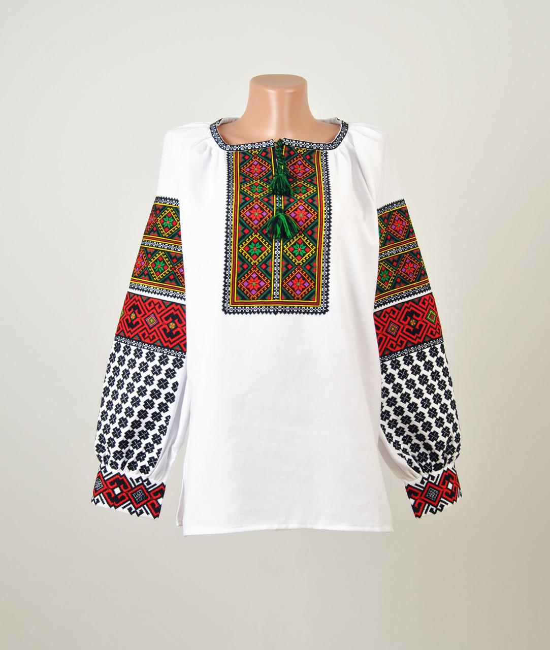 Жіноча вишиванка з гуцульським орнаментом машинної вишивки -  Інтернет-магазин вишиванок для всієї сім  a759826f941f8
