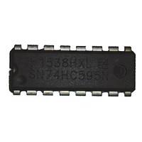 5х Чип SN74HC595N DIP16 8-битный сдвиговый регистр (5 штук в наборе)