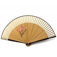 Веер из бамбука и шелка