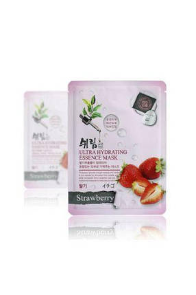 Ультраувлажняющая клубничная тканевая маска Shelim Ultra Hydrating Essence Mask Strawberry, фото 2