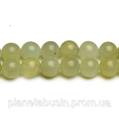 8 мм Светлый Нефрит, CN283, Натуральный камень, Форма: Шар, Отверстие: 1мм, кол-во: 47-48 шт/нить, фото 2