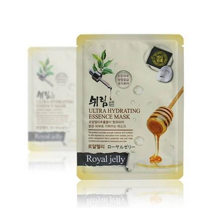 Ультраувлажняющая тканевая маска с экстрактом маточного молочка Shelim Hydrating Essence Mask Royal Jelly, фото 2