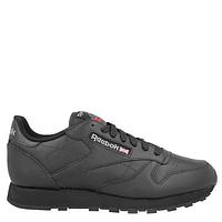 Оригинальные мужские кожаные кроссовки Reebok Classic Leather чёрные арт.1513