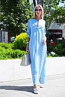 Длинное летнее льняное платье Цвета 9080 МВ, фото 1