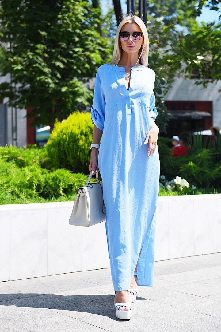 387aefc7d08e977 Длинное летнее льняное платье Цвета 9080 МВ - Интернет - магазин одежды  Mixton в Одессе