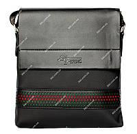 Мужская сумка через плечо черная (54010ч)