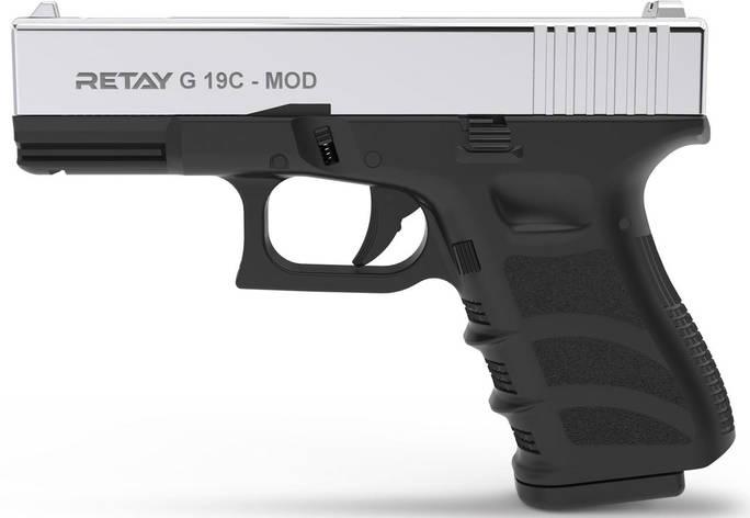 Стартовый пистолет Retay G19C Nickel, 7 патронов, фото 2