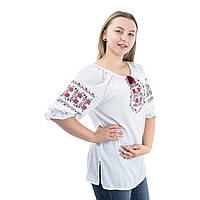 Женская шифоновая блуза с вышивкой