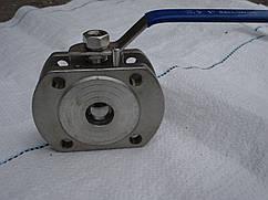 Нержавеющий фланцевый кран AISI 304 DN 15