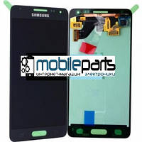 Оригинальный Дисплей (Модуль) + Сенсор (Тачскрин) для Samsung SM-G850F Galaxy Alpha service (Черный)