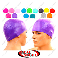 Шапочка для плавання Legend PL-5969 (силікон, 38гр, кольори в асортименті)