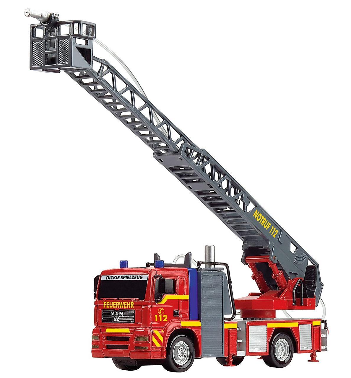 Игрушка Пожарная машинка Город со световыми и звуковыми эффектами 31 см City Fire Engine Dickie Toys 3715001