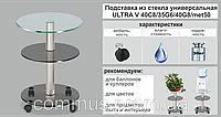 Подставка для воды Ultra V трехъярусная, цвет серый, прозрачный, бронза, голубой