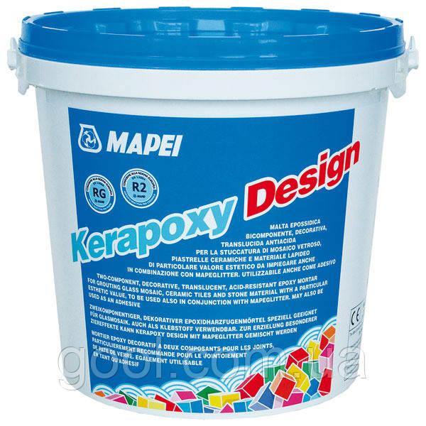 Эпоксидная затирка Мапей Керапокси Дизайн для швов плитки ведро по 3 кг. цвет № 740 голубой