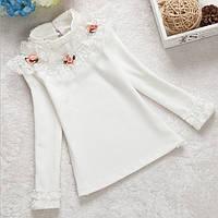 Кофта нарядная белая для девочки