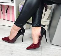 Туфли лодочки омбре на красной подошве