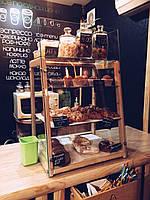 Деревянная кондитерская витрина ручной работы