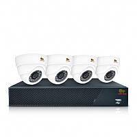 Комплект AHD видеонаблюдения на 4 внутренние камеры Partizan Indoor Kit 1MP 4xAHD