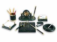 Настольный набор на 9 предмета мрамор