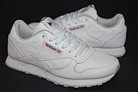 Белые кроссовки Reebok Classic Whiteс кожа