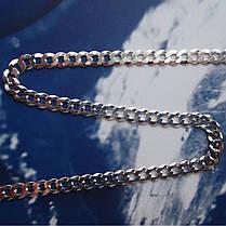 Серебряная цепочка, 500мм, 8 грамм, плетение Панцирь, фото 3
