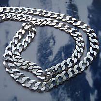 Серебряная цепочка, 500мм, 8 грамм, плетение Панцирь, фото 2