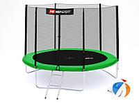 Батут Hop-Sport 10ft (305cm) green с внешней сеткой