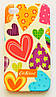 Чехол на Айфон 4/4s Cath Kidston стильный Пластик Сердечки