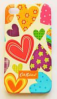 Чехол на Айфон 4/4s Cath Kidston стильный Пластик Сердечки, фото 1