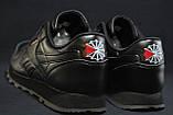 Підліткові шкіряні чорні кросівки Reebok Classic Black 36 розмір, фото 4