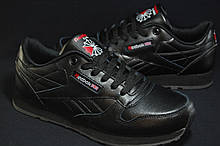 Підліткові шкіряні чорні кросівки Reebok Classic Black 36 розмір