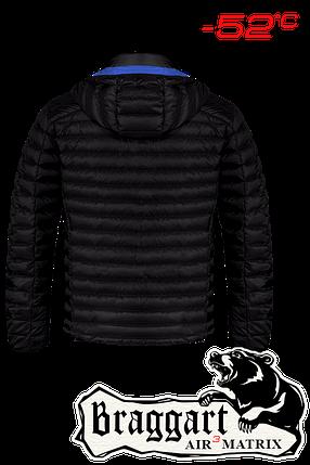 Мужская черная зимняя куртка большого размера (р. 56-62) арт. 3844R, фото 2