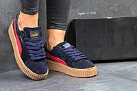 Женские кроссовки Puma Rihanna темно фиолетовые 2702
