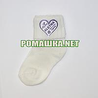 Детские плотные носки р. 56-62 для новорожденного 80% хлопок 20% эластан ТМ Ромашка 3768 Бежевый
