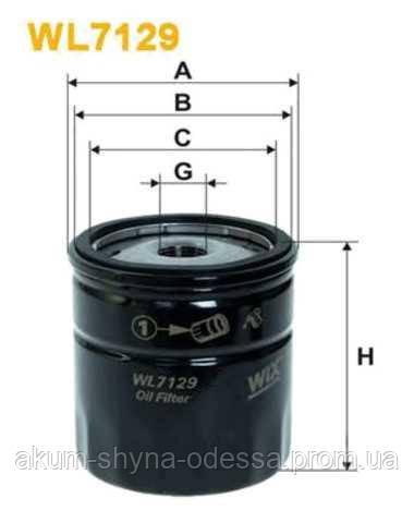 Фильтр масляный sm105  WIXFILTRON WX WL7129-12 OP570 oc90