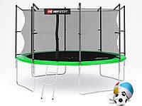 Батут Hop-Sport 12ft (366cm) green с внутренней сеткой