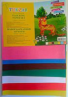 Цветная бумага в наборе Бархатная А5 №10104 7 листов 14257Ф+ Tukzar Турция