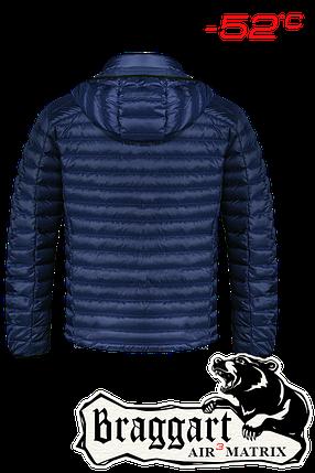 Мужская синяя зимняя куртка больших размеров (р. 56-62) арт. 3844F, фото 2