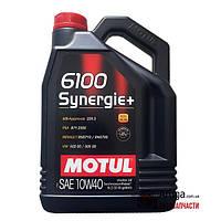 Моторное масло полусинтетика Motul 6100 Synergie + 10W-40 5л