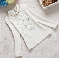 Кофточка белая нарядная для девочки