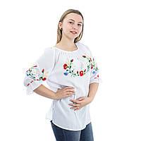 Вышиванки белые женские шифоновые с вышивкой