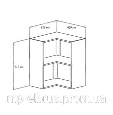 Шкаф верхний угловой, фото 2