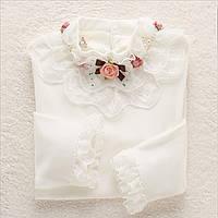 Белая нарядная кофта для девочки