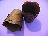 Тарталетки (капсулы) бумажные для кексов, капкейков Лилия Коричневая
